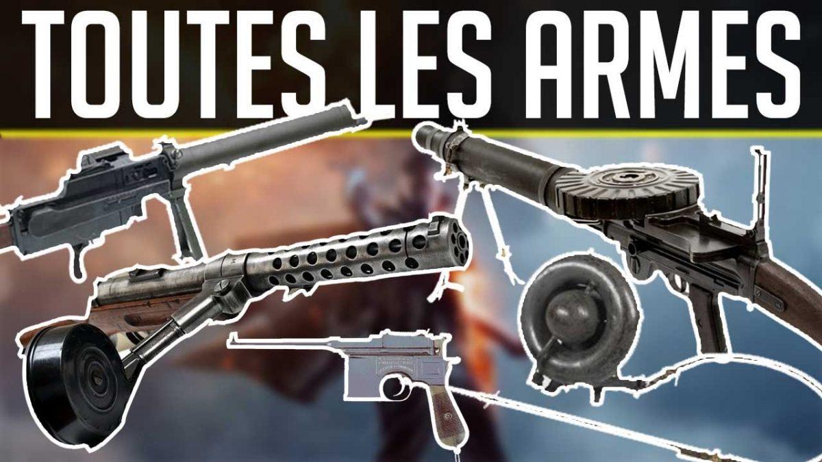 Armes de Battlefield 1